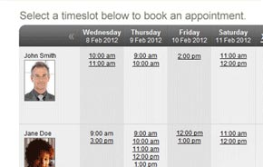 YellowSchedule online booking screenshot