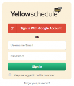 YellowSchedule & Google Login