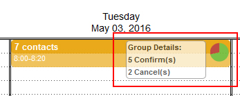 group appointment status information