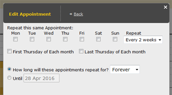 repeating appointments updates