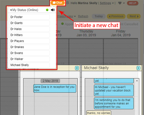 live hipaa chat - start a new chat