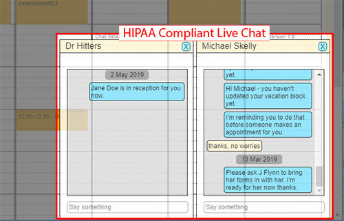 live chat hipaa compliant