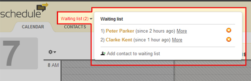 waiting list function